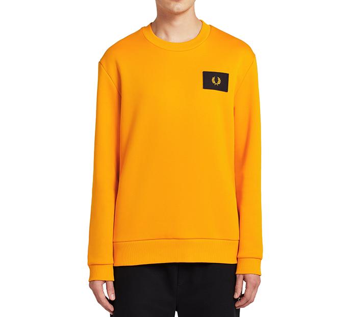 Fred Perry Acid Brights Sweatshirt Tangerine