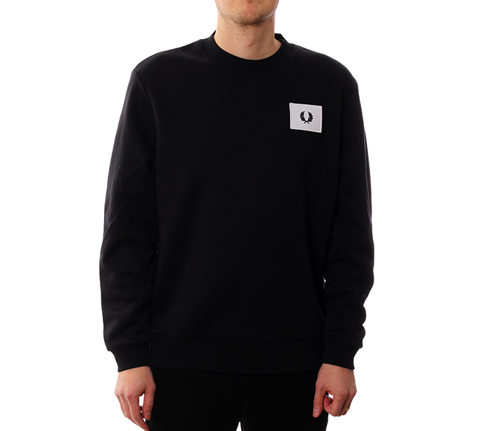 Fred Perry Acid Brights Sweatshirt Black