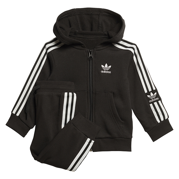 Adidas Kids Lock Up Hoodie Set Black / White