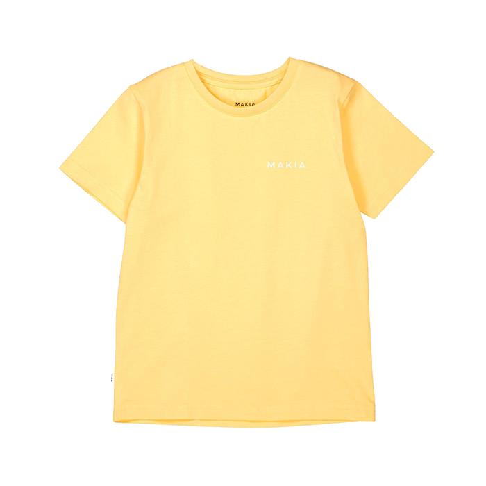 Makia Kids Trim Tee Yellow