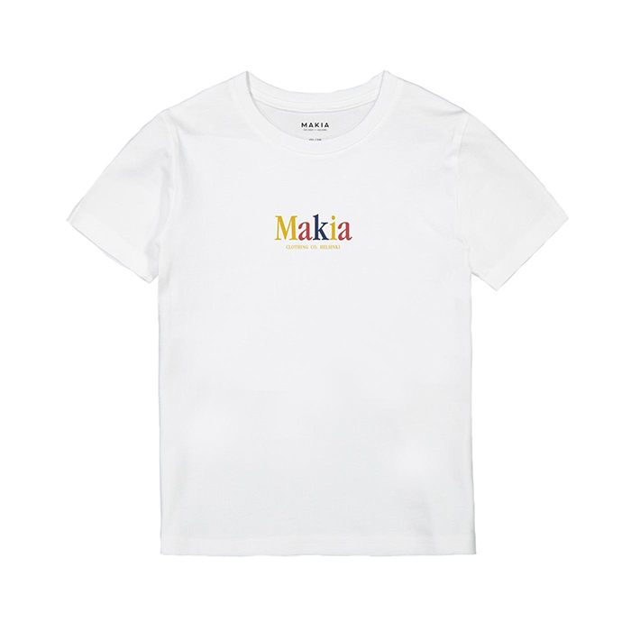 Makia Kids Strait Tee White