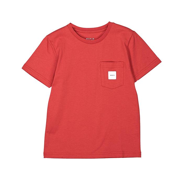 Makia Kids Pocket Tee Red