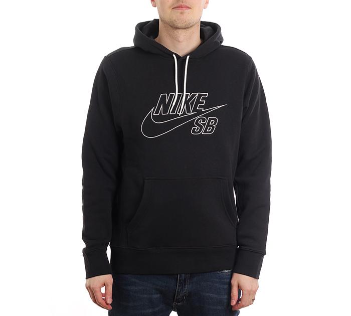 Nike SB Embroidery Hoodie Black / Summit White