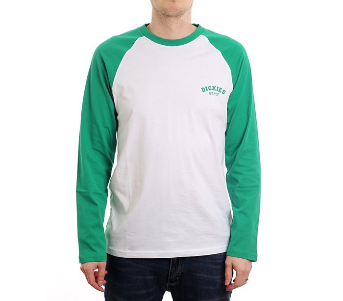 Dickies Baseball LS Tee Emerald Green