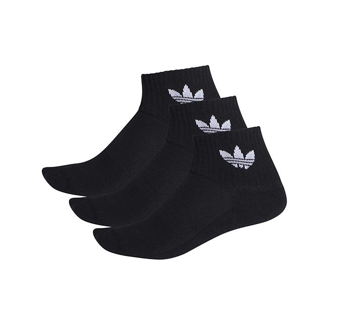 Adidas Originals Mid Ankle Socks 3-Pack Black