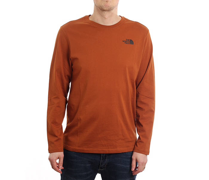 The North Face Red Box Longsleeve Tee Caramel Cafe