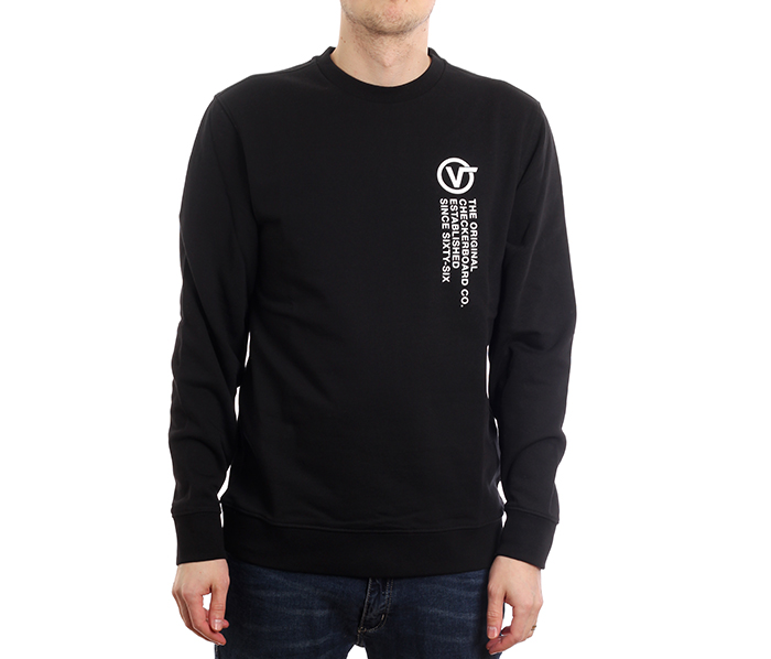 Vans Distort Type Crew Sweater Black