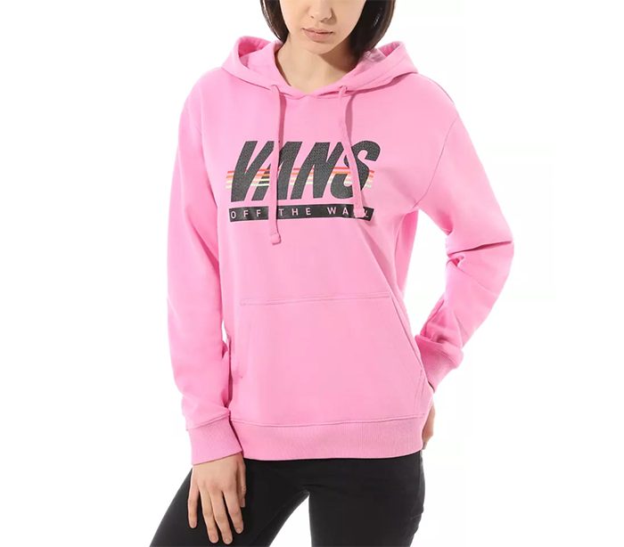 Vans Womens Sport Stripe Hoodie Fuchsia Pink