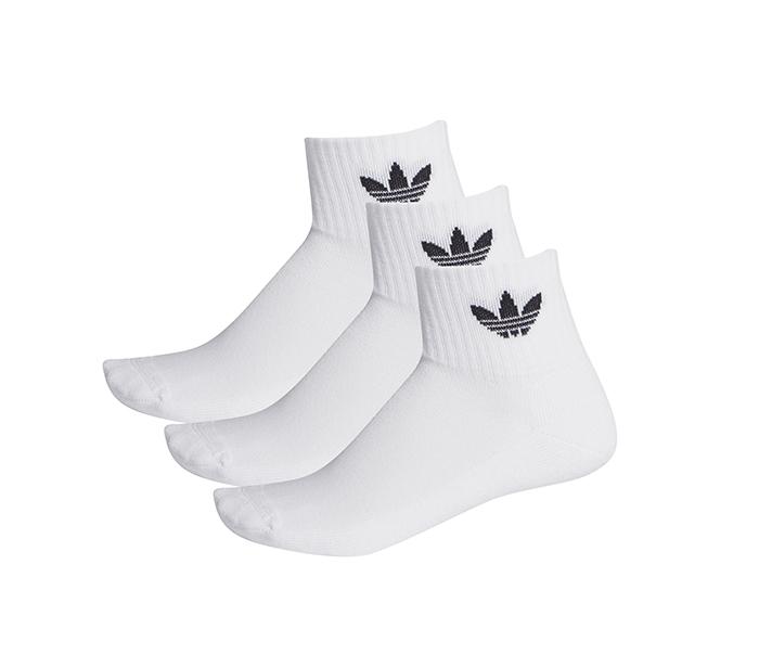 Adidas Originals Mid Ankle Socks 3-Pack White / White / White