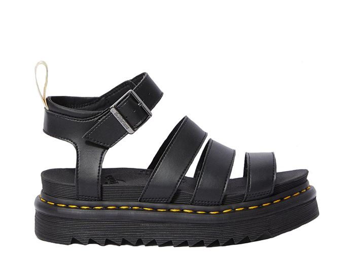 Dr Martens Vegan Blaire Sandals Black Felix Rub