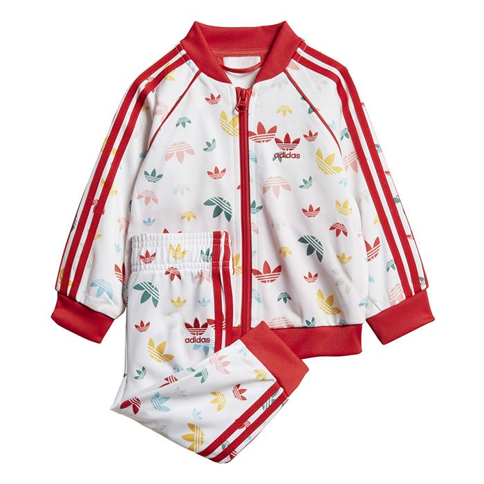 Adidas Kids SST Set White / Multicolor / Lush Red