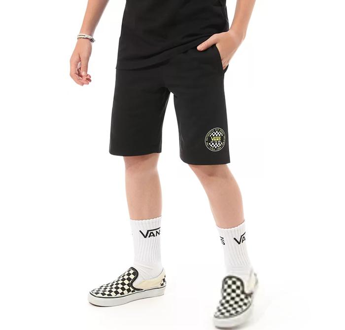 Vans Youth OG Checker Fleece Shorts Black