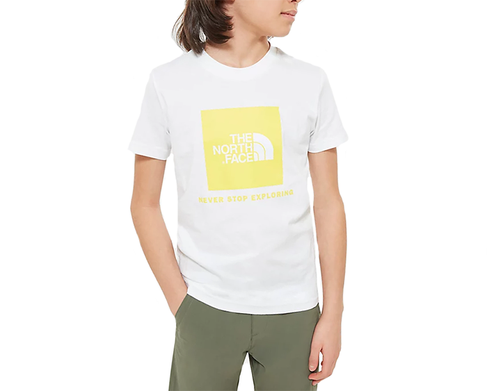 The North Face Youth Box Tee TNF White / TNF Lemon