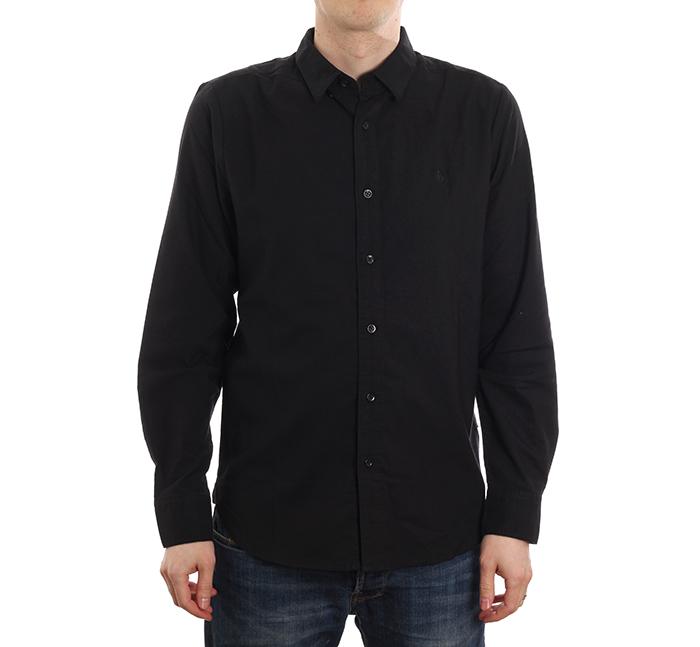 Volcom Oxford Long Sleeve Shirt New Black