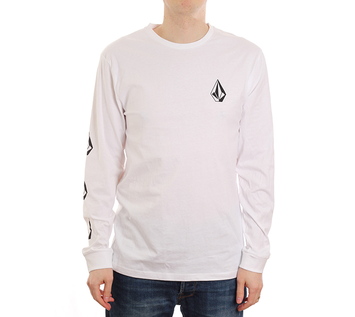 Volcom Deadly Stone Long Sleeve Tee White