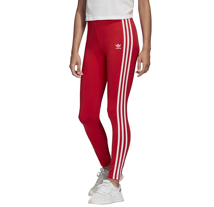Adidas Originals Womens 3 Stripes Tights Lush Red / White
