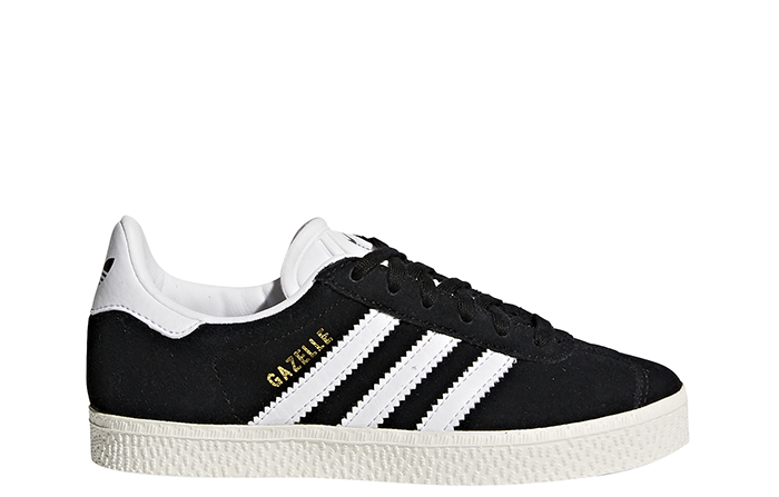 Adidas Youth Gazelle Core Black / Footwear White / Gold Metallic