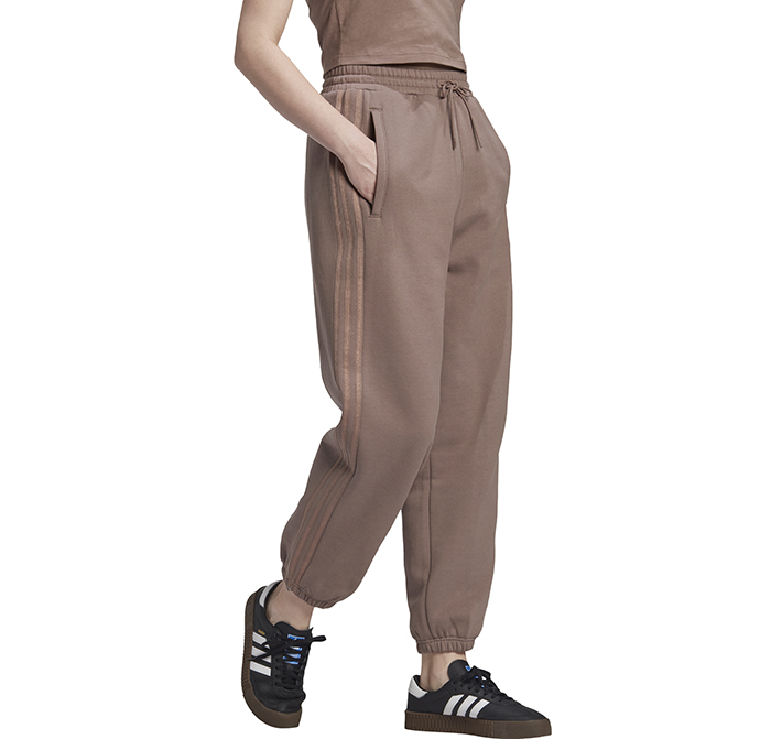 Adidas Originals Womens Cuffed Sweatpants Trace Brown