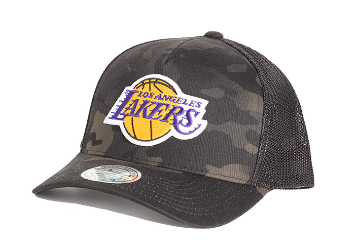 Mitchell & Ness Los Angeles Lakers 110 Trucker Snapback Camo