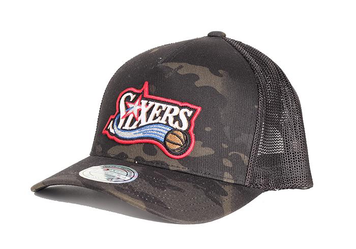 Mitchell & Ness Philadelphia 76ers 110 Trucker Snapback Camo
