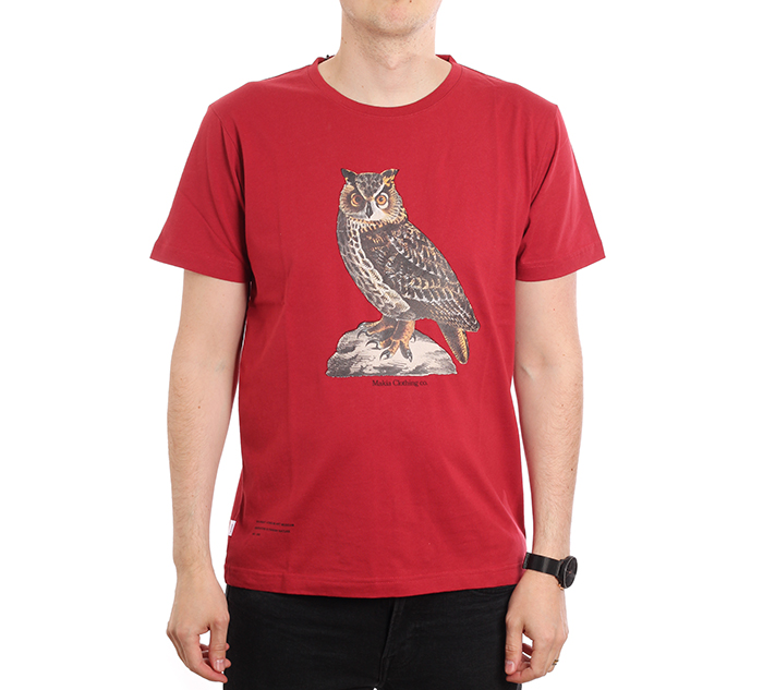 Makia x Von Wright Bubo T-shirt Red