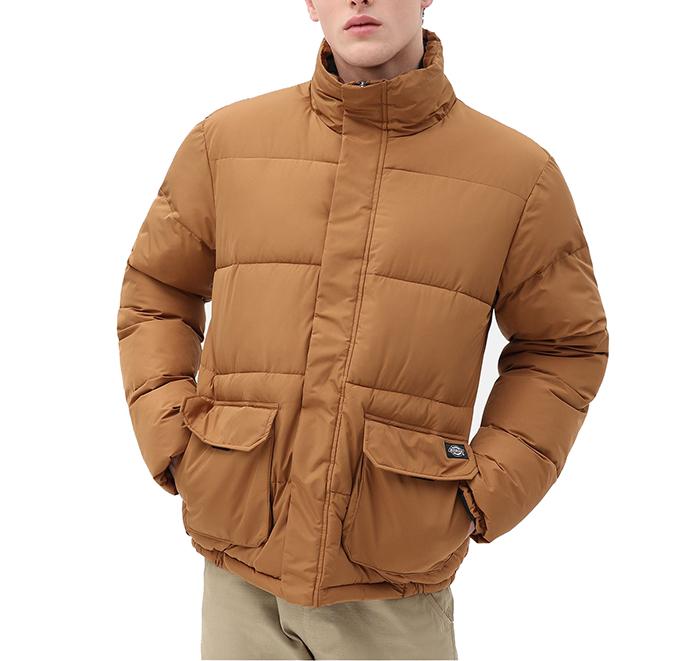 Dickies Olaton Puffa Jacket Brown Duck