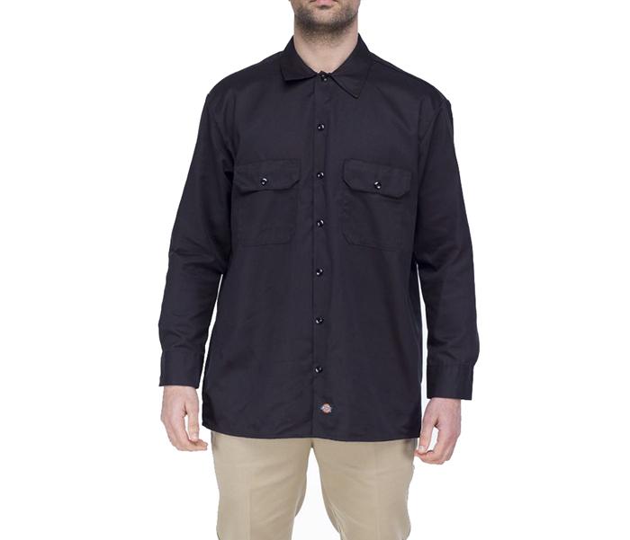 Dickies Long Sleeve Work Shirt Black