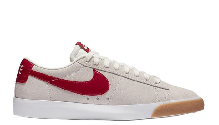 Nike SB Blazer Low GT Sail / Cardinal Red - White - Gum Light Brown