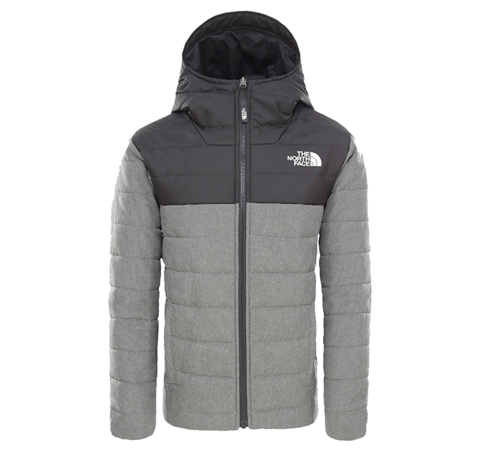 The North Face Youth Reversible Perrito Jacket TNF Medium Grey Heather