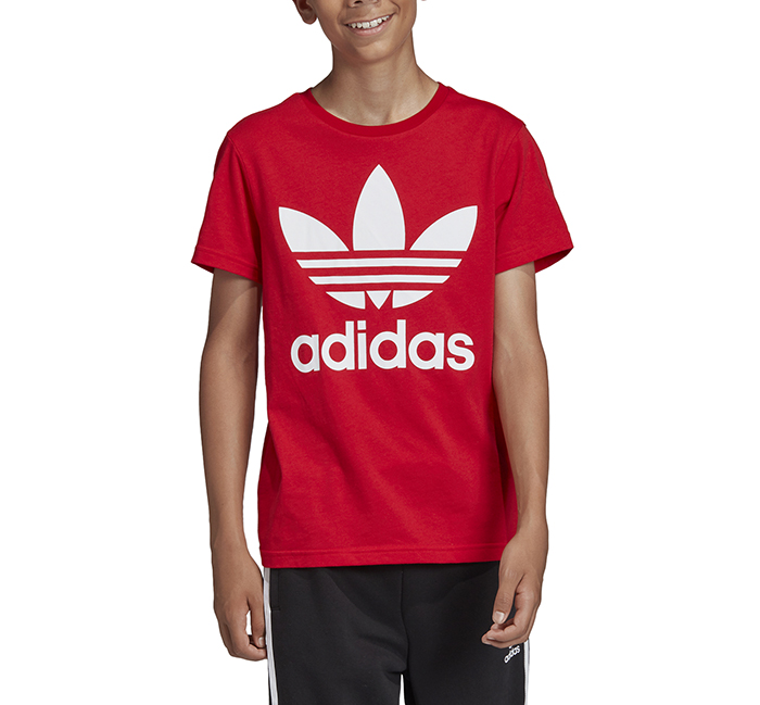 Adidas Youth Trefoil Tee Scarlet