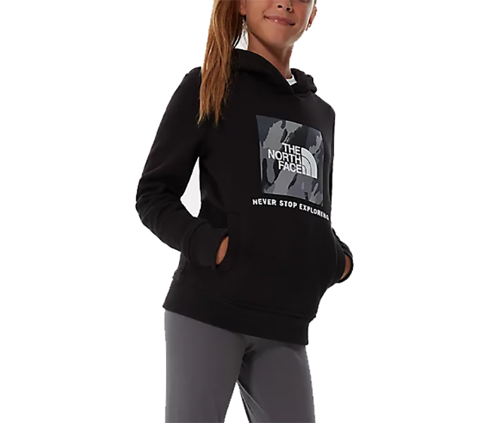 The North Face Youth Box Logo Hoodie New TNF Black