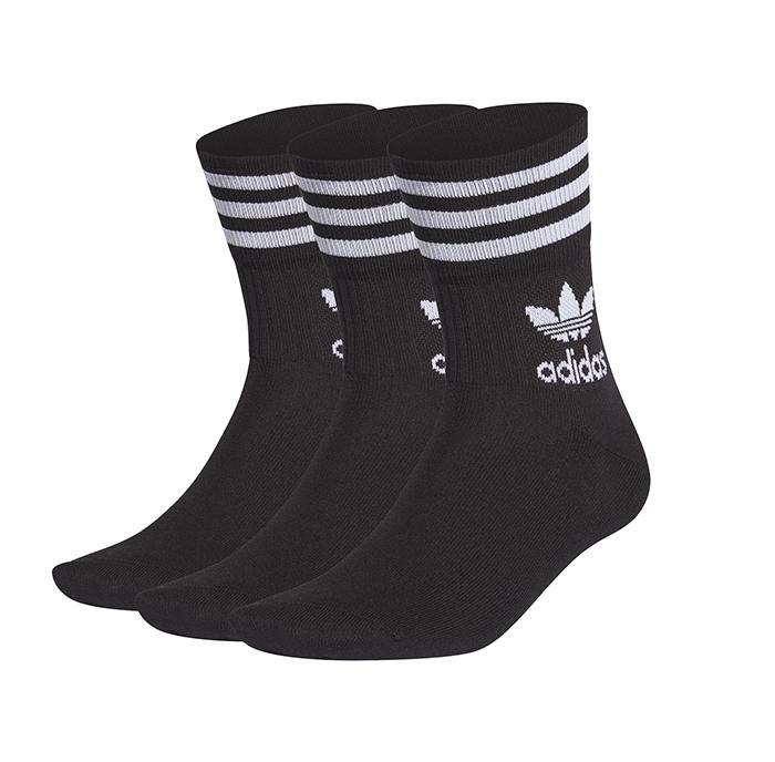 Adidas Originals Mid Cut Crew Socks Black / White