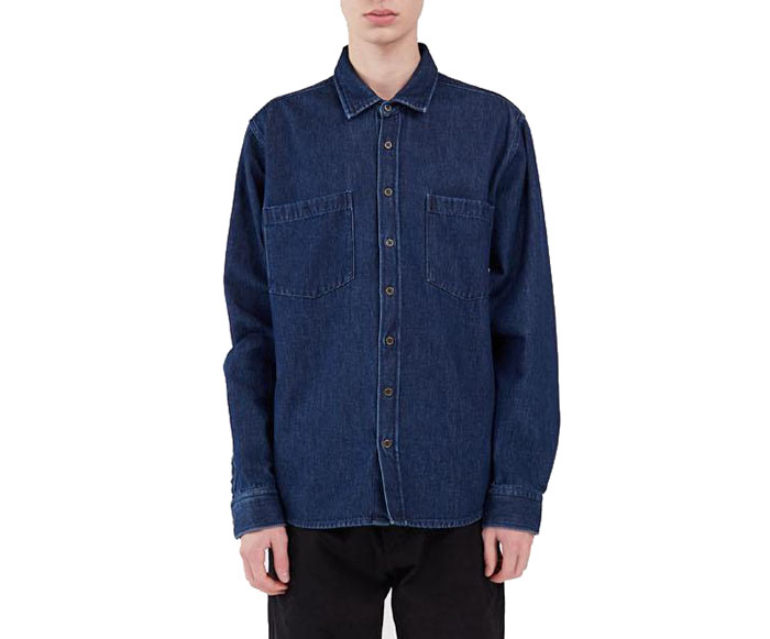 Makia Staple Shirt Indigo