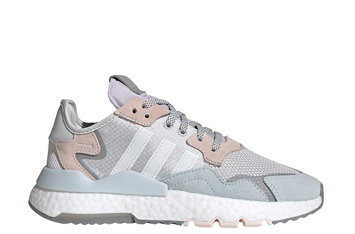 Adidas Womens Nite Jogger Grey One / Cloud White / Pink Tint