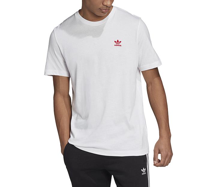 Adidas Originals Trefoil Essentials Tee White / Scarlet