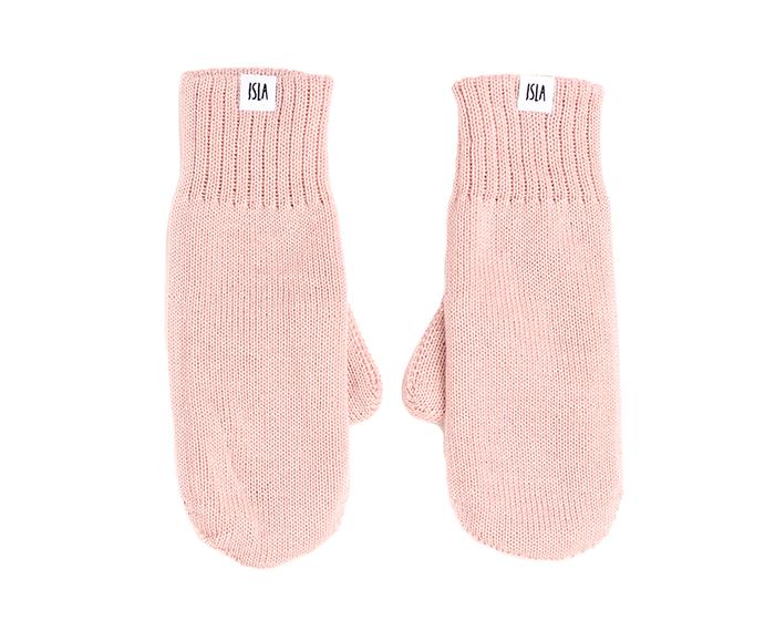 ISLA Merino Mittens Blush Pink