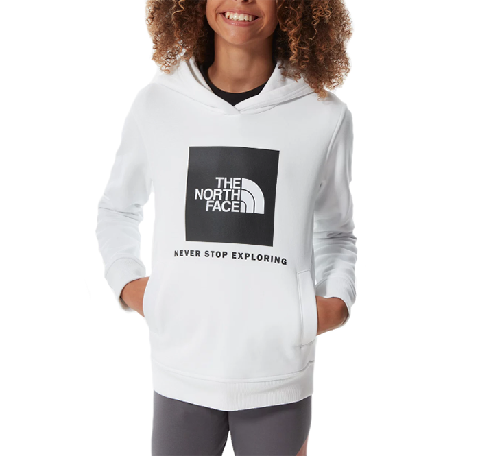 The North Face Youth New Box Crew Hoodie TNF White