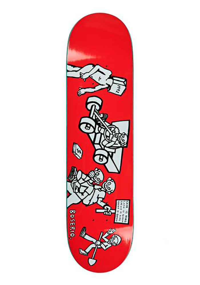 Polar Skate Co. NICK BOSERIO - Cash is Queen Red 8.125