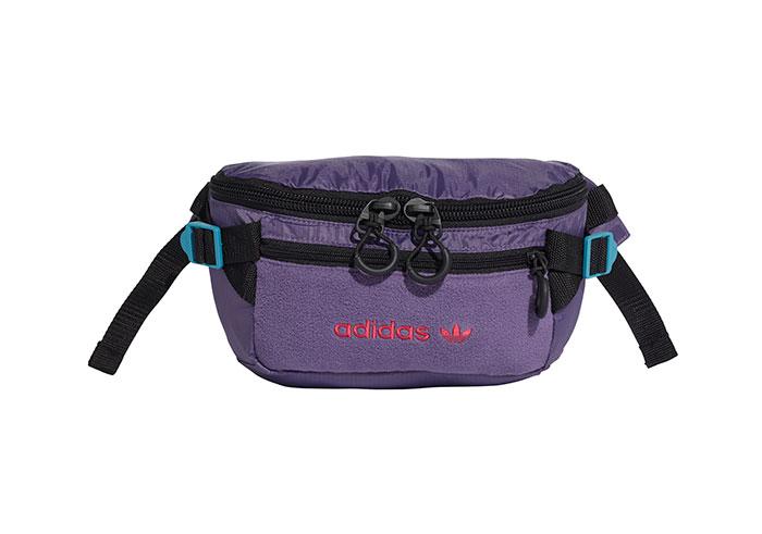 Adidas Originals Premium Essentials Waist Bag Large Tech Purple / Tactile Steel