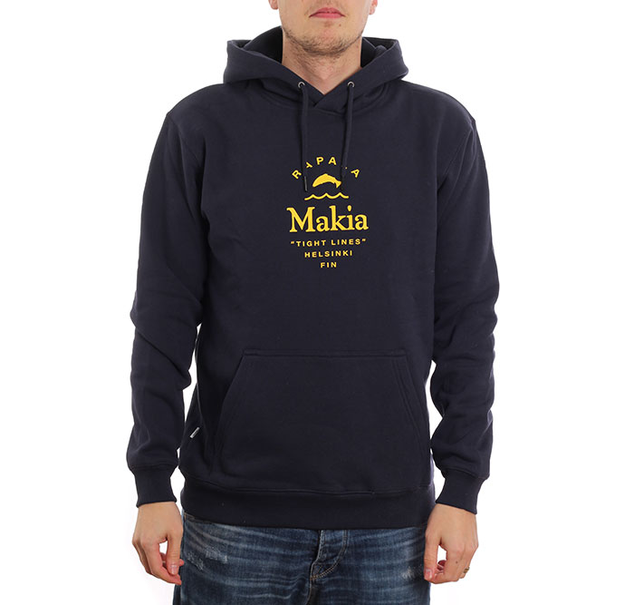 Makia x Rapala Cast Hooded Sweatshirt Dark Blue