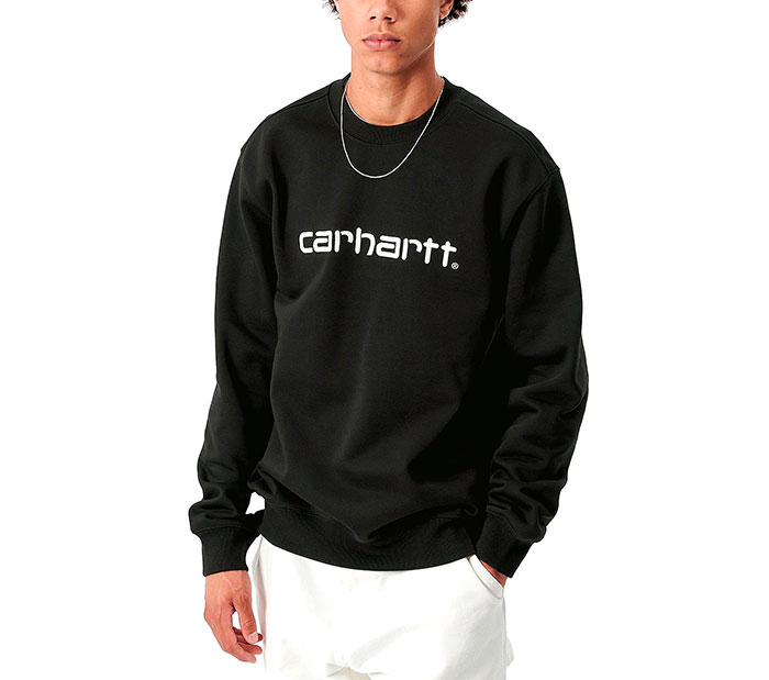 Carhartt Sweatshirt Black / White