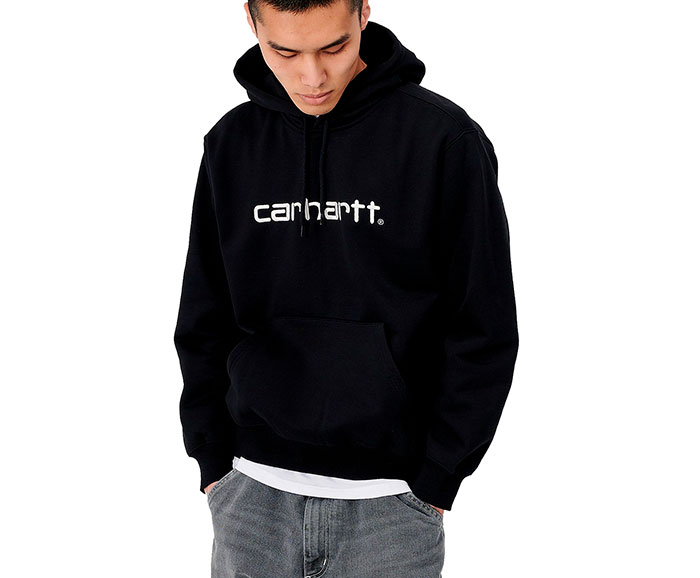 Carhartt WIP Hooded Sweatshirt Black / White