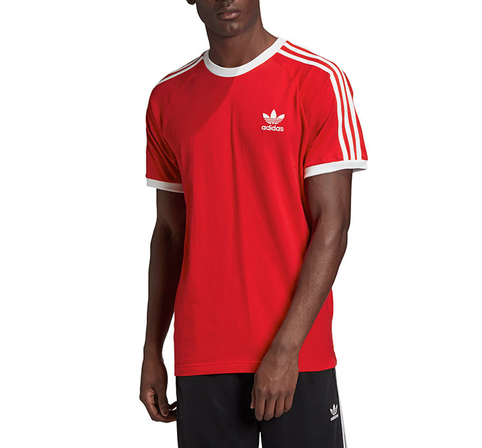Adidas Originals 3 Stripes Tee Scarlet