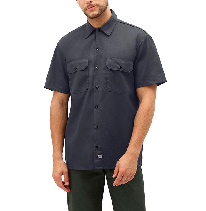 Dickies Short Sleeve Work Shirt Charcoal Grey