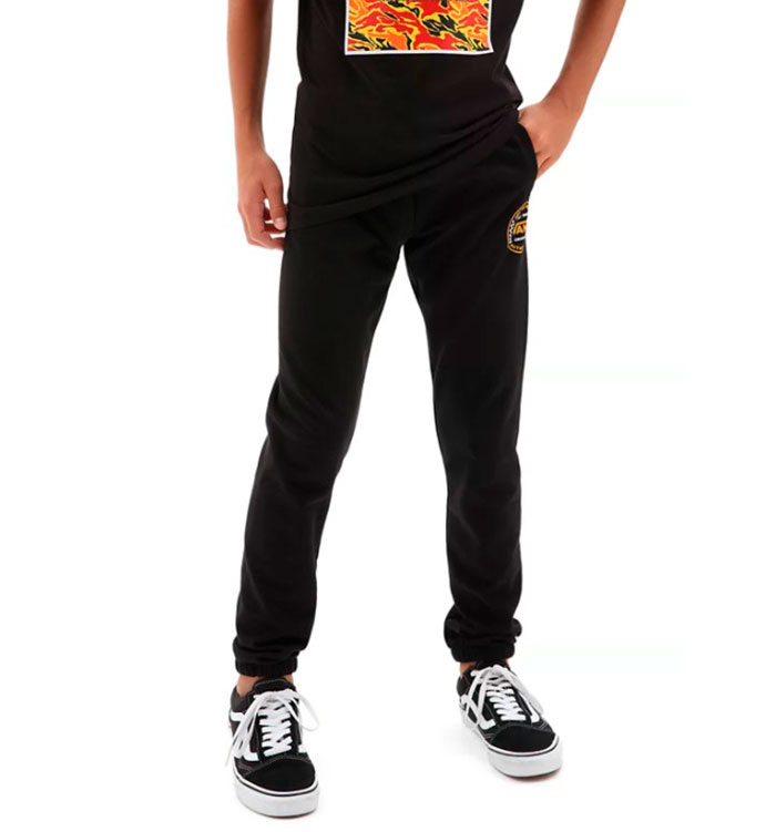 Vans Youth Authentic Checker Fleece Pants Black