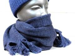Makia Flag Wool Scarf Blue