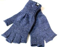 Makia Flag Wool Fingerless Gloves Blue