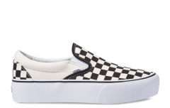 Vans Slip-On Platform Black / White Checkerboard