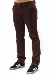 Kr3w K Slim Chino Pants Oxblood