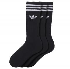 Adidas Solid Crew Sock 3-Pack Black / White